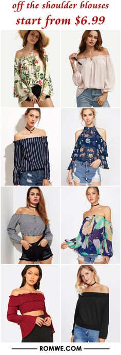 off the shoulder blouses from $6.99
