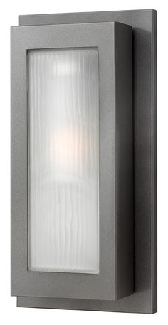 Buy The Hinkley Lighting Hematite Direct. Shop For The Hinkley Lighting  Hematite Height 1 Light Fluorescent Outdoor Wall Sconce From The Titan  Collection ...