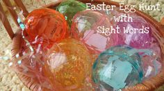 The Magnolia Barn: Sight Word Easter Fun - Think I'll have to add a little candy in there to incise sugar shane! Frugal Family, Spring Theme, Frugal Tips, Egg Hunt, Sight Words, Cool Words, Magnolia, Easter Eggs, Christmas Bulbs