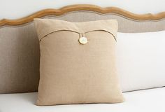 PureLinen Sham, Beige on OneKingsLane.com $39 looks easy to make.