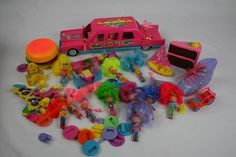 Complete Lot of Wee Wild Things Dolls Playsets Limo Cake Burger Shoe | eBay