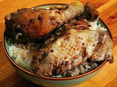Filipino Chicken Adobo - edited a bit based on how i've made it in the past (added some water and sugar)