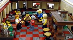 """The Winchester from """"Shaun of the Dead"""" in Lego."""