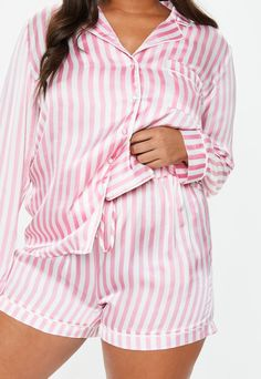 Plus Size Pink Stripe Satin Pyjama Set Plus Size plus size pajamas Satin Pyjama Set, Satin Pajamas, Pajama Set, Pjs, Women's Pajamas, Satin Sleepwear, Pijama Plus Size, Plus Size Pajamas, Best Pajamas