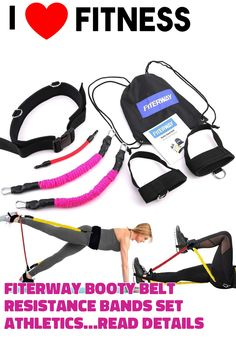 FITERWAY Booty Belt Resistance Bands Set Athletics Band Sets for Women Butt and Leg System Workout Lifter Tones Sculpts Speed Agility Training Tool for Kinetic Bands ... (This is an affiliate link)