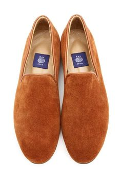 8b678c68de01 SHOES - SNUFF SUEDE LOAFERS (BROWN LEATHER TRIM)