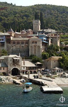 Monastery of Dochiariou, Mount Athos, Greece Beautiful Places To Visit, Cool Places To Visit, Places To Go, Macedonia Greece, The Holy Mountain, Christian World, Fantasy Places, Southern Europe, Greek Islands