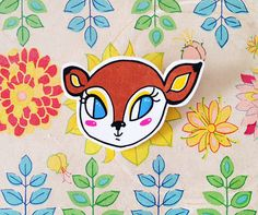 Little Bambi Woodland Fawn Shrink Plastic Brooch - Made To Order by Rose Hudson