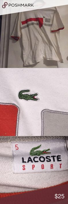 Lacoste shirt Lacoste polo shirt in good condition has wrinkles but can be ironed overall the shirt is in good condition has no flaws/stains -Will ship in one business day or the same day purchased  -Will ship via usps priority mail Lacoste Shirts