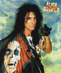 Alice Cooper didn't start off as Glam Metal star. But after kicking his alcohol habit and reorganizing himself, he became Hair Metal's dark prince. Hard Rock, Alice Cooper, Michigan, Blues Rock, Rock Posters, Concert Posters, Rock N Roll, Enchanted, Top Music Artists