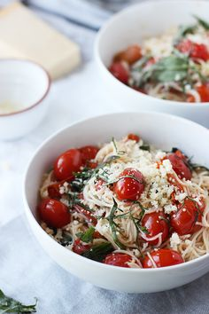 20 Minute Cherry Tomato and Basil Angel Hair Pasta #Recipe