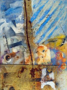 "Anne Marchand, Core  Acrylic and Mixed Media on Canvas  48"" x 36"""