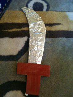 Preschool Crafts for Kids*: Pirate Sword Cardboard Craft