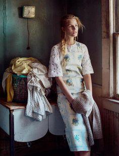 Smile: Suvi Koponen in Vogue Russia February 2016 by Sebastian Kim