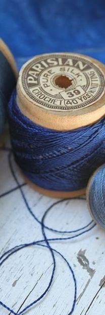 blue threads
