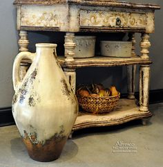 Very Nice---Tall Tuscan Water Vessel.. NEW ITEM! ~ Find it at Accents of Salado.