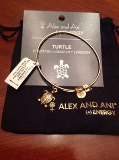 Alex and Ani Sea Turtle Expandable Charm Bracelet Rare NWT Russian Gold