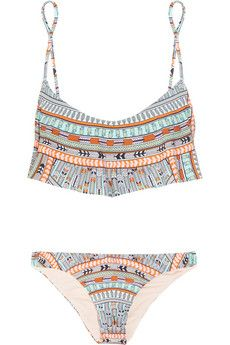 Mara Hoffman Aztec, Feather & Pineapple print swimsuit