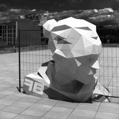 David Mesguich; installed geometric sculptures, pressure, people who are on the fence/between worlds