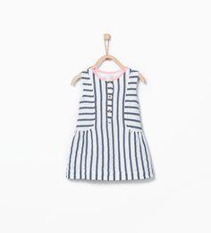 Striped dress-Dresses-Baby girl (3 months - 3 years)-KIDS | ZARA United States