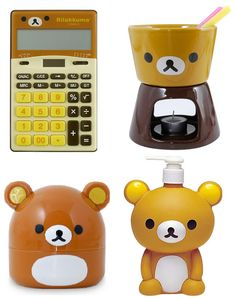 Rilakkuma Gadgets teddy bear kitchen so cute