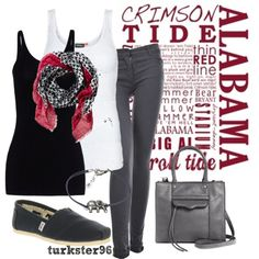 """""""A Day * Roll Tide"""" by turkster96 on Polyvore"""