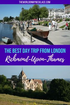 A quaint village on the river Thames with old fashioned pubs and grand old houses, London's largest park and numerous walking trails: Richmond has it all. Richmond London, Richmond Upon Thames, Europe Travel Tips, Travel Destinations, Travel Articles, Day Trips From London, English Village, Travel Inspiration, England