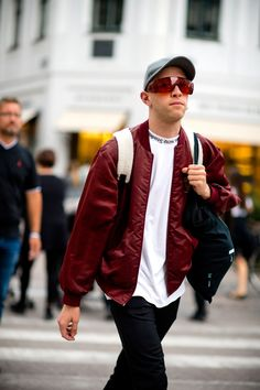See all the best outfits and most superb streetwear from outside the Spring Summer 2018 men's shows at Copenhagen Fashion Week and CIFF.