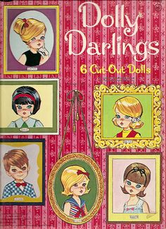Wonderfully cute Dolly Darling paper dolls from the 1960s. #paper #dolls #1960s #retro #vintage #toys #nostalgia