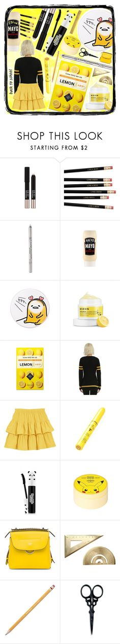 """Black & yellow"" by beanpod ❤ liked on Polyvore featuring Missha, Holika Holika, TONYMOLY, SkinCare, Warner Bros., Skinfood, Fendi, Paper Mate, The BrowGal and Midori"