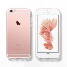 Soft clear iPhone 6s case, Rose gold, iPhone 6 case, iPhone 5s case,... ($17) ❤ liked on Polyvore featuring accessories and tech accessories #Iphone5s
