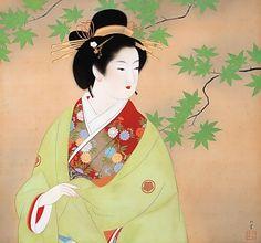 """Bijinga"" (Flower Basket) • Uemura Shoen"