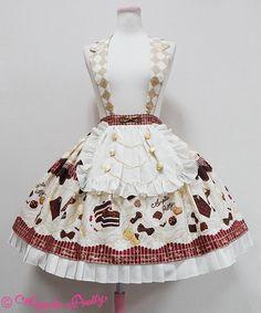Angelic Pretty Antique Chocolaterie襟付スカート Harajuku Fashion, Kawaii Fashion, Lolita Fashion, Cute Fashion, Fashion Outfits, Japanese Fashion, Asian Fashion, Victorian Fashion, Vintage Fashion