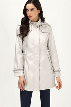 Button Flap Detail Belted Anorak size 6 Raincoat, Button, Detail, Birthday, Pants, Jackets, Collection, Dresses, Women