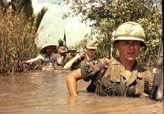 Soldiers in Vietnam War.
