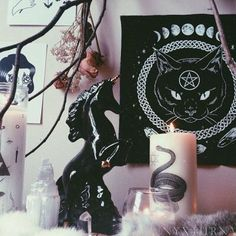 ''thanks to my godmother, wicca sets me free'' La Danse Macabre, Gothic Bedroom, D House, Witch House, Witch Aesthetic, Room Goals, Gothic House, Decoration Design, Pastel Goth