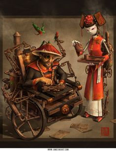 Steampunk meets Asian art « Randommization
