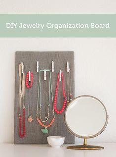 simple jewelry organization board