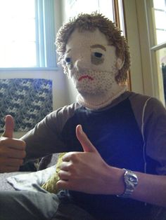 Or indeed a knitted hangover mask!