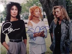 cher, susan sarandon, and michelle pfeiffer in the witches of eastwick