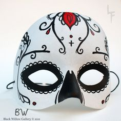 Pretty Eyes Sugar Skull Day of the Dead Hand by BlackWillowGallery
