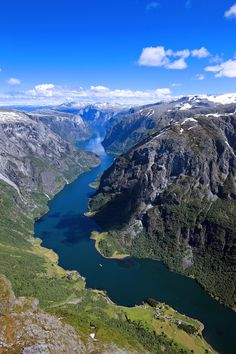 The Naeroyfjord.