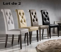 Chaise de salle à manger en PU design LUXA, différents coloris - lot de 2, Chaise de salle à