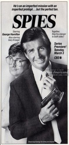 "TV series ""Spies"" – starring George Hamilton (1987)"