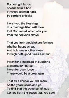 Wedding Quotes Marriage Congrats New Ideas Wedding Prayer, Wedding Blessing, Wedding Poems, Wedding Readings, Wedding Speeches, Sister Wedding Quotes, Wedding Tips, Blessing Poem, Wedding Wishes Quotes