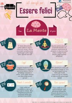 28 consigli per essere felici - Il benessere mentale  #Psicologia #Stress #Felicità #Benessere