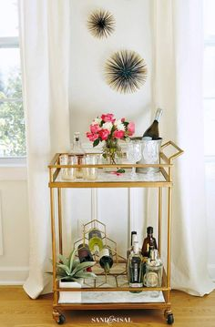 DIY bar cart, Marble