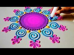 Shivratri special attractive bright rangoli design | Rangoli design by shalini रंगोली डिजाइन - YouTube