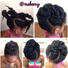 Pretty Little Natural  Simple Updo Styles For Any Occasion  This is an Oldie but Goodie!  #mekony #mekonewyork #prettylittlenaturals #protectivestyles #naturalupdo #naturalbeauty #naturalstyles #naturalandchic #naturalhairdoescare #naturalhairsalonnj #naturalhaircarepro #naturalhairsalonnj #naturalhaircareteam #naturalhaircarecoach #naturalhaircarestylistnj #tobnatural #teamnatural #teamnatural_ #trialsntresses #tendrilsandcurls #thenaturalhaircarecoach #curlynikki #frenchbraids