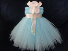 Simple blue tutu dress could be the one for the wedding!